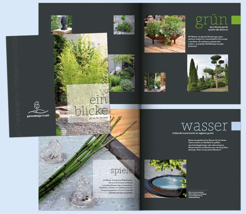 Broschüre Gartendesign Trauth