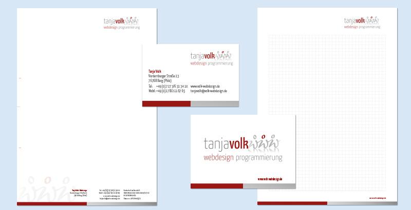 Geschäftsausstattung Tanja Volk