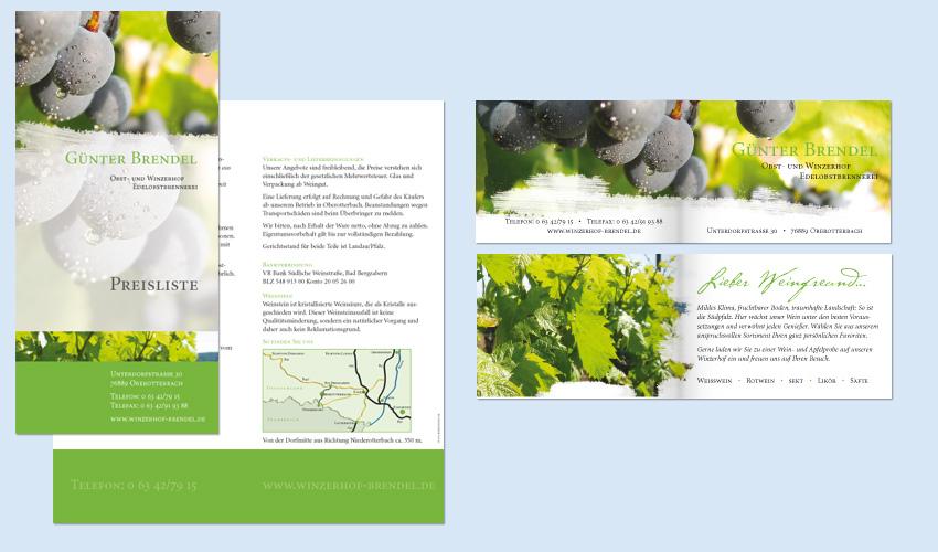 Geschäftsausstattung Weingut Brendel